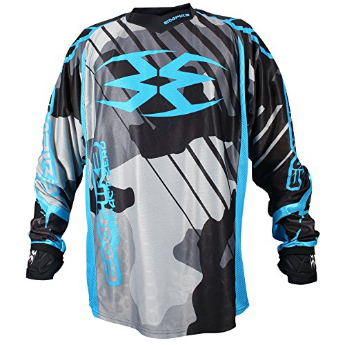 Empire 2016 Contact Zero F6 Paintball Jersey (Grey/Blue, Large) (Empire Contact Gloves)