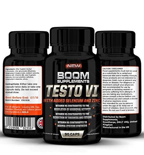 Testosterona - Suplemento nº 1 para hombres y mujeres | 90 Capsulas | Alcanzar niveles normales