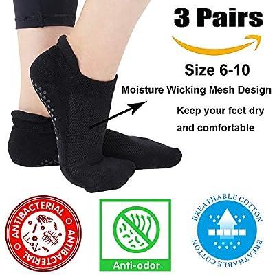 Yoga Socks for Women Non Skid Slipper Socks with Grips Barre Socks Pilates Socks for Women