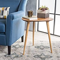 Finnian Natural Finish Wood End Table