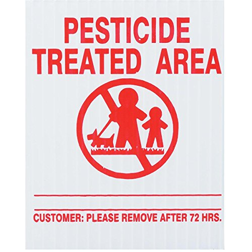 """25x GEMPLER'S G10788PK New Jersey State Pesticide Application Signs – Tough Weatherproof Outdoor Screen-Printed Plastic Legend Boards plus 16"""" PVC Stakes – USA - Board Pvc Sign"""