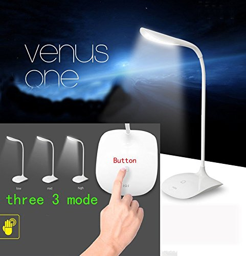 Light 9' Vanity Lamp (USB Rechargeable Touch Sensor Cordless LED Light Desk Table Reading Lamp-White)