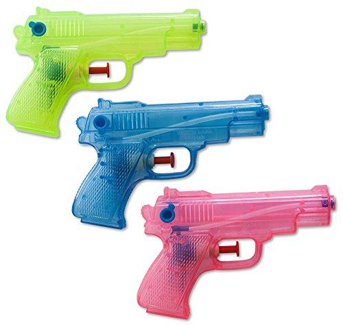 diverse 3 x Wasserpistolen Wasserpistole Klassiker 13 cm Spritzpistolen Wasserspritze