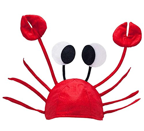 Christmas Red Lobster Crab Sea Animal Hat Halloween Costume Fancy Party Adult Children Cap