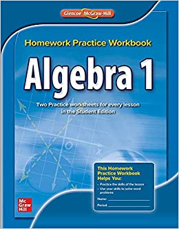 glencoe homework practice workbook algebra 1