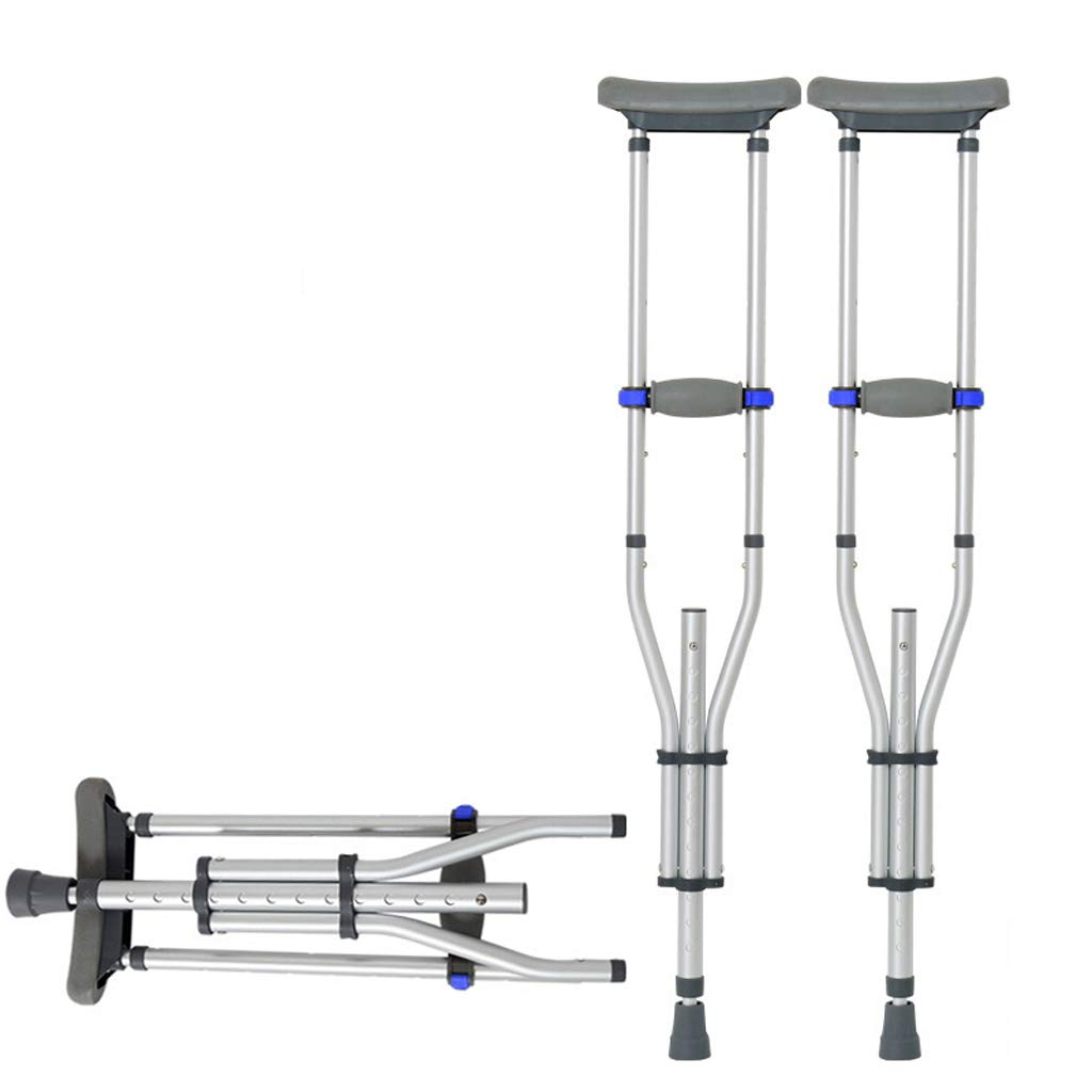 Lxn 折りたたみ式腋窩肘、アルミニウム軽量調節可能な高さノンスリップアダルトウォーカー - 1ペア   B07G49F4H1