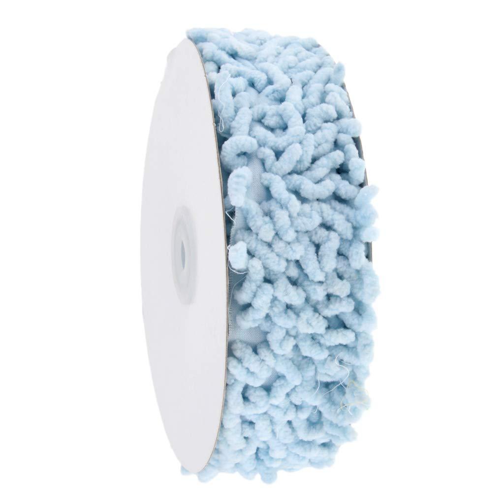 Blue sharprepublic 3 Yards 38mm Plush Trim Ribbon Lace Edging Trimmings for DIY Sewing Garment Decoration Handmade Craft Accessories