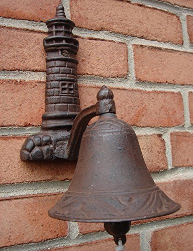 Cast Iron Lighthouse Welcome Loud Tone Bel -