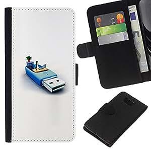 KLONGSHOP // Tirón de la caja Cartera de cuero con ranuras para tarjetas - memoria usb sistema informático pc pingüino - Samsung ALPHA G850 //
