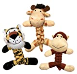 KONG Cat BraidZ Safari Catnip Toy (Assorted), My Pet Supplies