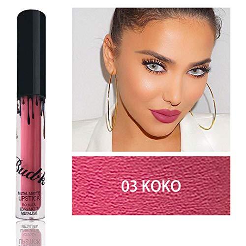 Liquid Lipstick Waterproof Matte Lipstick Metal Style LIP GLOSS Nude KYLI Lips BUDK BK03 koko