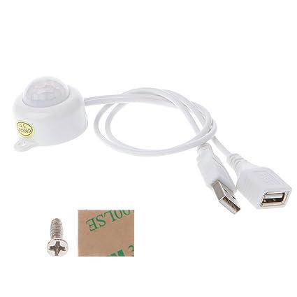 Besttse - Interruptor de tira de luz LED USB DC5-24 V con sensor de