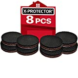 """Tools & Hardware : Non Slip Furniture Grippers X-PROTECTOR - Premium 8 pcs 2"""" Furniture Pads! Best SelfAdhesive Rubber Feet for Furniture Feet - Ideal Non Skid Furniture Floor Protectors for Fixation in Place Furniture"""