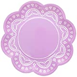 We Love Sundays Lavender Lovely Lace Paper Plates | 10-Pack | Great for Various Themed Parties