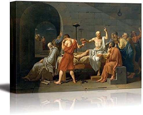 The Death of Socrates by Jacques Louis David Print Famous Painting Reproduction
