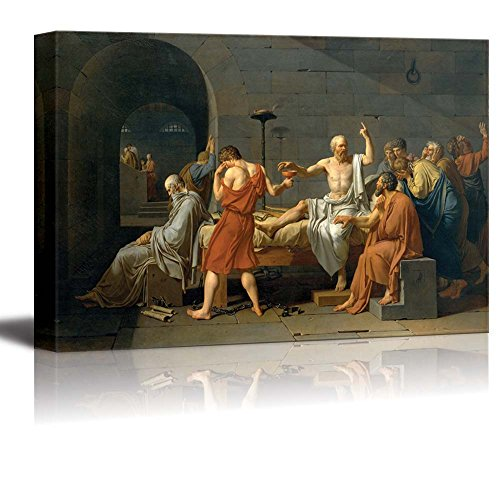 wall26 - The Death of Socrates by Jacques-Louis David - Canvas Print Wall Art Famous Painting Reproduction - 32