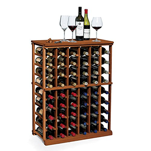 N FINITY Wine Rack Kit - 6 Column Half Height - Dark Walnut - Solid Mahogany