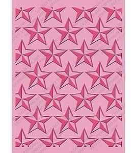 Cricut Cuttlebug - Carpeta para estampados en relieve (tamaño A2), diseño de estrellas