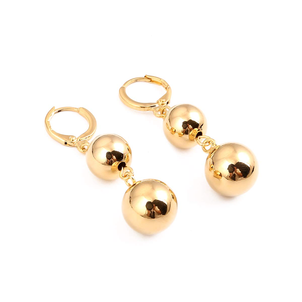 CB Gold Jewelry Round Ball Beads Earrings Cheap Wedding Engagement Fashion Statement Earrings G95