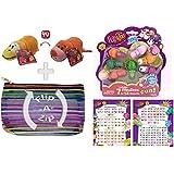 FlipaZoo - Flipzee 5 Inch Strawberry Seal / Orange Penguin and 7 Pack Bundle w/ Exclusive Flip-A-Zip Bag!