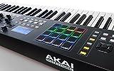 Akai Professional MPK261 | 61-Key USB MIDI Keyboard & Drum Pad Controller with LCD Screen (16 Pads / 8 Knobs / 8 Faders)