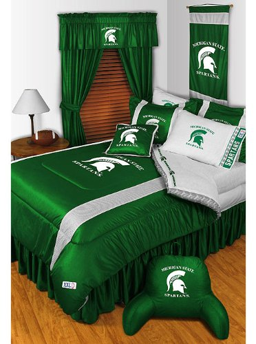 NCAA Michigan State Spartans - 5pc BEDDING Set - Queen Bed in a Bag by Store51 (Image #1)