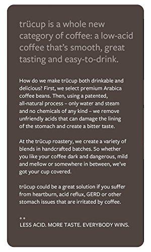 Trücup low-acid coffee - Dark as Night, French Roast - Espresso Grind, One Pound Bag