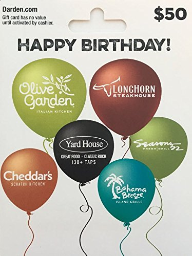 Amazon.com: Darden Restaurants Gift Card $50: Gift Cards