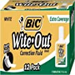 BIC Wite-Out Extra Coverage Correction Fluid, White, 12 Correction Fluids Model: BICWOFEC12WE Office Supply Store
