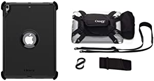 "OtterBox Defender Series Case for iPad Pro 10.5"" & iPad Air (3rd Generation) - Retail Packaging - Black & Utility Series Latch II Case with Accessory Bag for 10-Inch Tablets - Black"