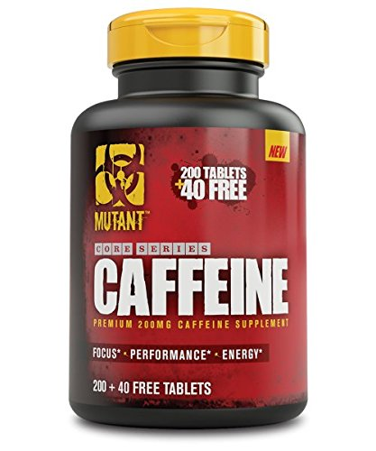 Mutant Caffeine – Pure, Straightforward Pharmaceutical Grade Caffeine Tablets, Helps To Temporarily Restore Mental Alertness Or Wakefulness When Fatigued – 240 Tablets Per Bottle