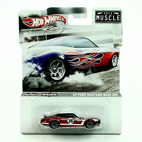 '69 FORD MUSTANG BOSS 302 2012 MUSCLE Hot Wheels RACING SERIES 1:64 Scale Die-Cast Vehicle - 64 Hot Wheels Racing
