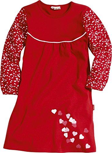 Playshoes Mädchen Nachthemd mit Herzen, Gr. 140, Rot (original 900)