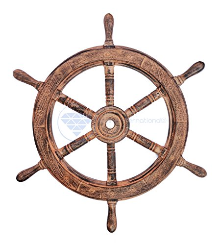 Home Decor International: Nautical Handcrafted Wooden Ship Wheel