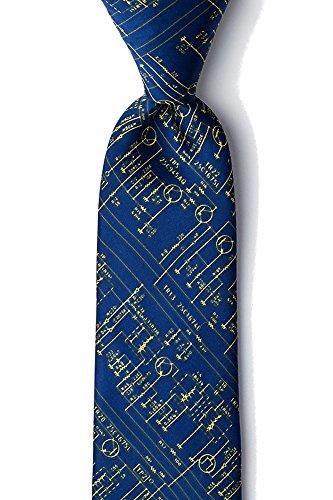 Men's Hipster Transistor Radio Schematics Retro XL Extra Long Tie Necktie (Navy Blue)
