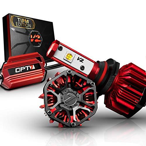 - OPT7 FluxBeam 9005 LED Headlight Kit w/Clear ARC-Lens Beam Bulbs & TIPM Resistor Kit - 60w 7,000Lm 6K Cool White CREE– for Dodge, Ram, Jeep, Chrysler