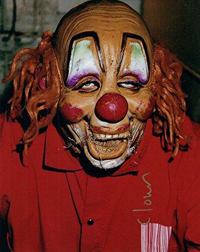 Slipknot Clown Mask Shawn Crahan Autographed Signed Photo AFTAL UACC -