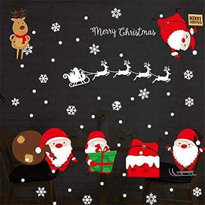 Cristmas Wall Window Christmas Stickers Christmas Decoration For Home Merry Xmas