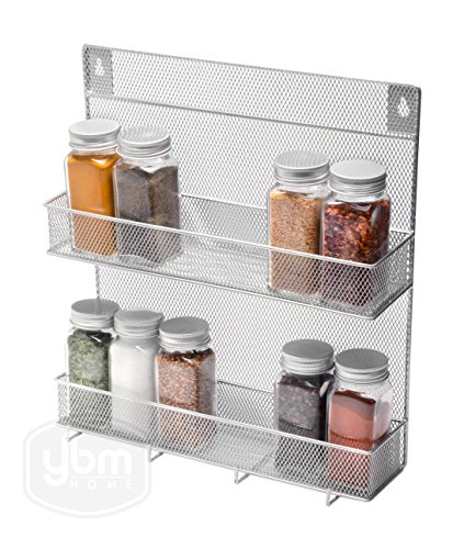 YBM Home Spice Rack 2 Tier With Hooks(W'11.3/4 L'12.3/4 Depth'4 Inch With The Hooks) by Ybmhome (Image #2)'