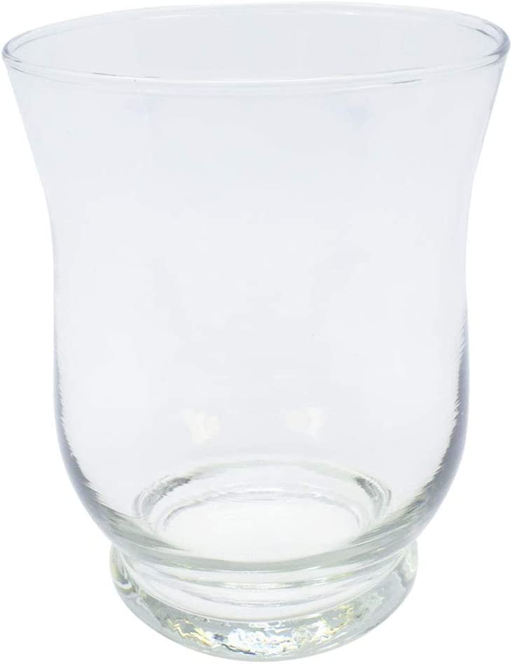 Just Artifacts Glass Hurricane Votive Candle Holder 4.5-Inch (12pcs, Clear) - Glass Votive Candle Holders for Weddings, Parties, and Home Décor