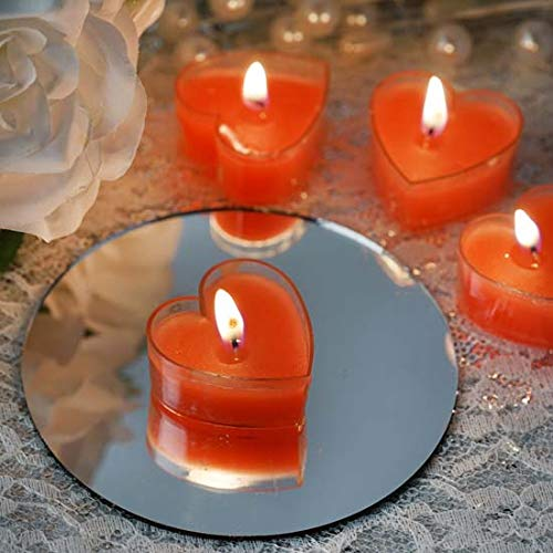 Efavormart Set of 12 ONE TRUE LOVE Heart Tealight Candles Ideal for Aromatherapy Weddings Party Favors Home Decor Supplies - Red