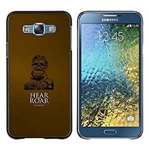 Jordan Colourful Shop - Hear Me Roar For Samsung Galaxy E7 E7000 Personalizado negro cubierta de la caja de pl????stico