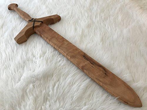 Oak Play Sword - Medium - Wooden - Honey (Linseed Oil) ()