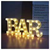 Vimlits BAR - Illuminated Marquee Bar Sign - Lighted LED Marquee Word Sign - Pre-Lit Pub Bar Sign Light Battery Operated