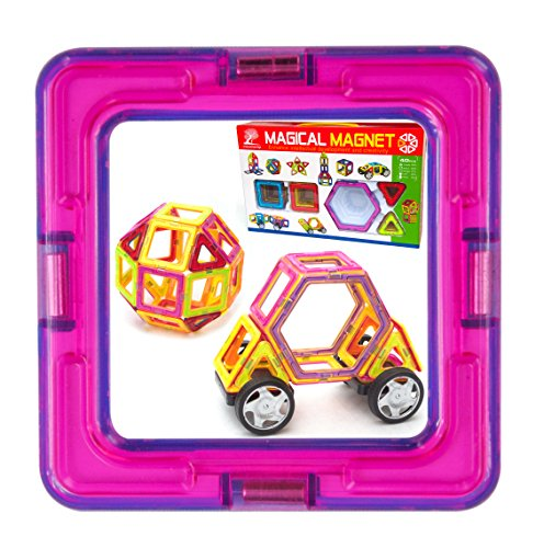 Building Toys Teens : Magnetic tile building set large pieces with wheels