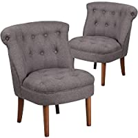 Flash Furniture 2 Pk. HERCULES Kenley Series Gray Fabric Tufted Chair