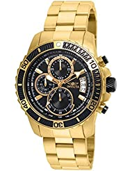 Invicta Mens Pro Diver Quartz Stainless Steel Casual Watch, Color:Gold-Toned (Model: 22414)