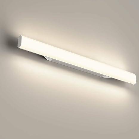 12W 1200LM Lámpara LED de pared, Lámpara de espejo Aplique de Baño LED 440mm 4000K Luz natural para Espejo Muebles de Maquillaje Aparato Montado en la ...
