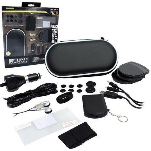 (PSP Starter Kit Bundle 20 in1 Accessories Pack PSP Models 1000,2000 & 3000 Compatible)