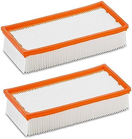2x Aspirapolvere Piatto filtro a pieghe per Kärcher NT 35//1 Tact NT 35//1 TACT TE